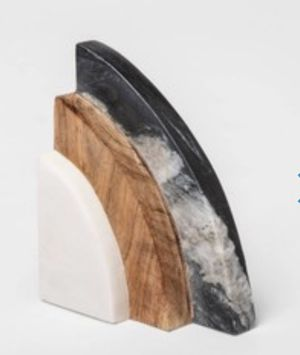 5x2.5 marble and wood bookends for Sale in Frederick, MD