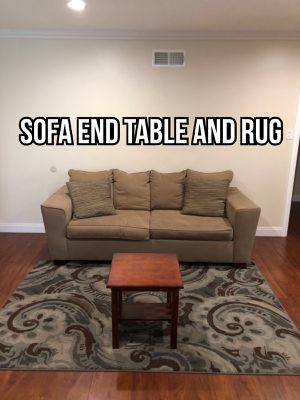 Sofa, small end table and rug set for Sale in Industry, CA