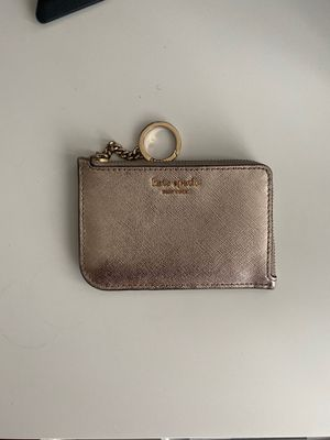 METALLIC GOLD Kate Spade Card Wallet/Coin Pouch for Sale in San Diego, CA