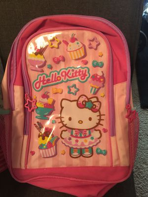Perfect hello Kitty backpack like new no damage everything works it's completely clean for Sale in Redmond, WA