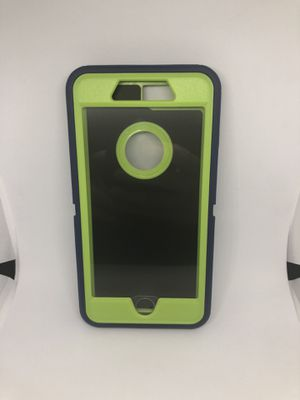 For iPhone 7 Plus 8 plus hard case green / blue for Sale in San Mateo, CA
