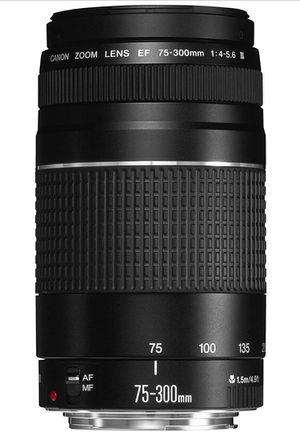 Canon EF 75-300mm f/4 - 5.6 III Telephoto Zoom Lens for Sale in Miami, FL