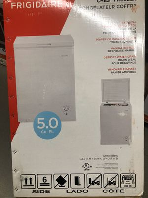 5.0 white Frigidaire freezer for Sale in Annandale, VA
