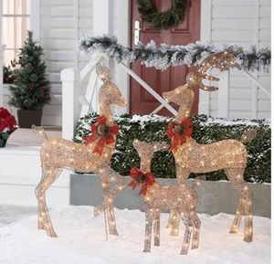 NEW Holiday Time Light-up Outdoor 3-Piece Glitter Reindeer Decoration Set for Sale in Los Angeles, CA
