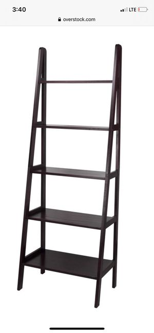 Espresso 5 shelf ladder bookcase for Sale in Tampa, FL