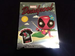 Medium Deadpool pop tee from funko NO FIGURE for Sale in Highland, CA