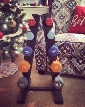 Dumbbells and Rack Set for Sale in Pittsburgh, PA