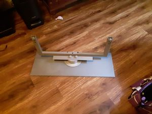 Glass and metal tv stand for Sale in Oshkosh, WI