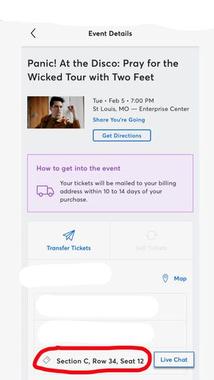 Panic! at the Disco FLOOR ticket! for Sale in O'Fallon, MO