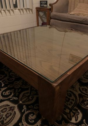 Wooden square coffee table, three foot by three foot, 15 inches tall for Sale in Scottsdale, AZ
