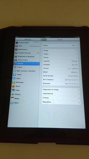 iPad 32GB First Gen ( no Camera ) Great for adults or kids for Sale in Nottingham, MD