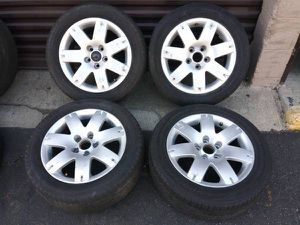 16 inch BMW alloy wheels 5 on 120mm with tires for Sale in Pico Rivera, CA