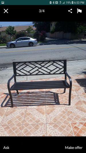 Iron patio bench for Sale in El Monte, CA