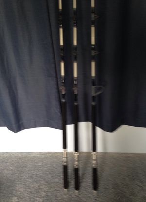Stand up30 pound class rods now you can fish without A fighting chair for Sale in Barnegat, NJ