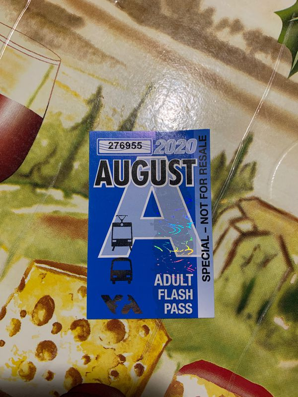 August 2020 Adult Flash Pass