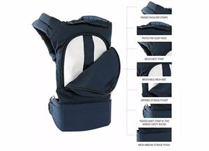 Mo+m Classic Cotton 3 Position Baby Carrier (Black). for Sale in Lilburn, GA