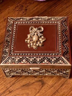 Rare Ornate 19th Century Style French Keepsake Trinket Box With Black Velvet Interior for Sale in Nashville, TN