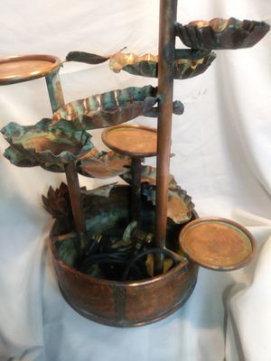 Handcrafted solid copper fountain for Sale in Garland, TX