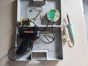 Soldering Gun w/ Case and Extra Iron and Supplies for Sale in Brighton, CO