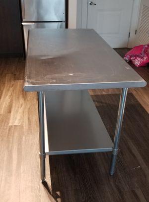 Stainless steel table 30 x 60 18 Gauge for Sale in Alafaya, FL
