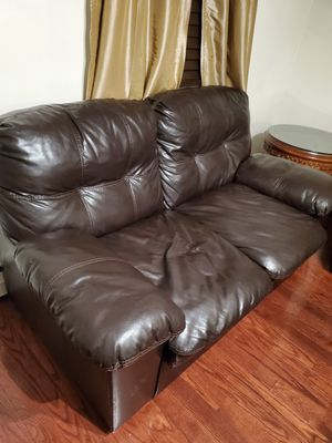 Sectional leather couch 3 piece and 2 piece 350 obo for Sale in Allentown, PA
