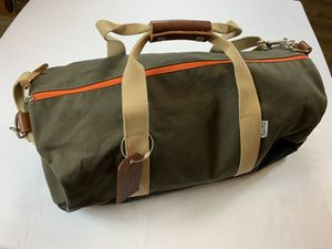 J Crew Owen & Fred Duffle, Overnight Green Canvas Bag Work Hard Play Hard for Sale in Clearwater, FL