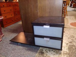 Lateral Black 2 Drawer File Cabinet w/extra space for Sale in St. Louis, MO