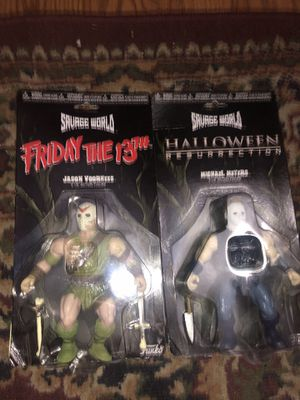 Jason Voorhees Michael Myers Friday the 13th Halloween action figures for Sale in Peoria, AZ