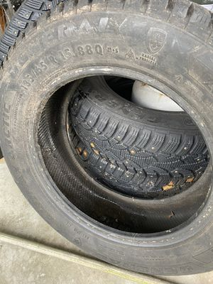Studded tires 185/65 r15. only 2 seasons on the tread less than 5k on miles for Sale in Tacoma, WA