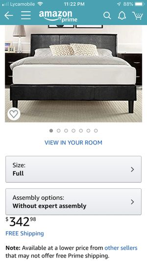 Full size Bed Frame and 6 inch memory mattress for Sale in North Brunswick Township, NJ