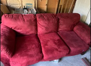 Red couch and loveseat for Sale in Orange City, FL