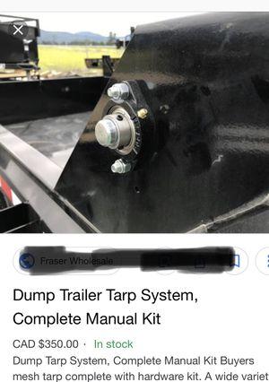 Dump trailer cover tarp kit. for Sale in Miami, FL