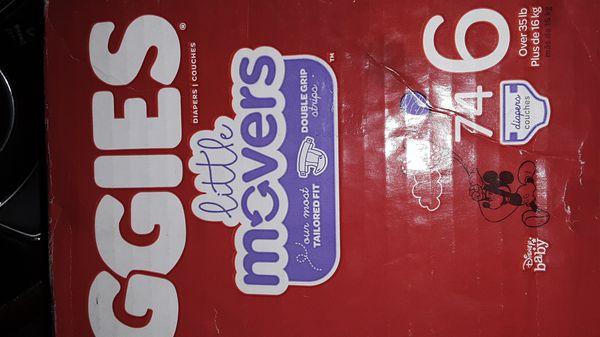 Huggies size 6 diapers 74 ct 20$ obo