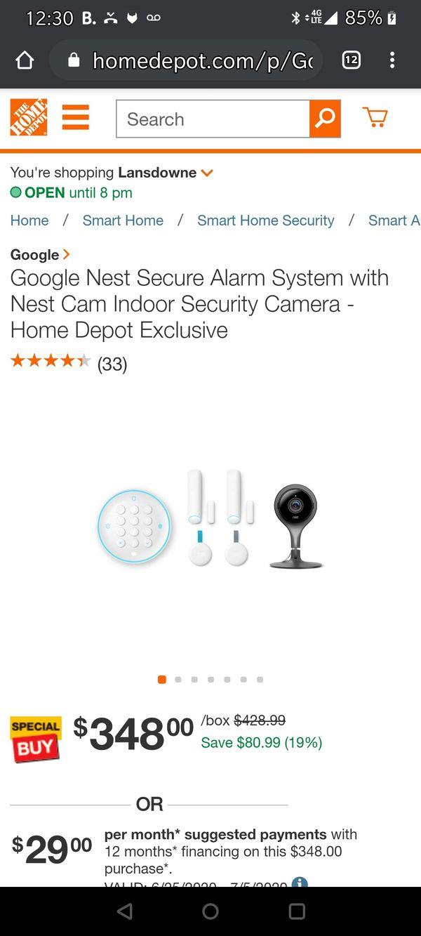 Google Nest Secure Alarm System with Best Cam Indoor Security Camera