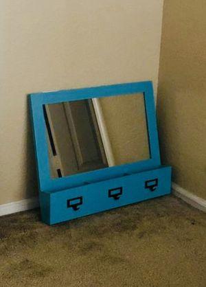 Wall Mirror bathroom living room bedroom vanity decoration organizer mail keys for Sale in Chandler, AZ