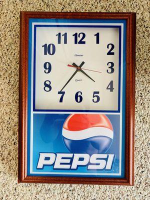 Pepsi Cola old school clock for Sale in Bridgewater, VA