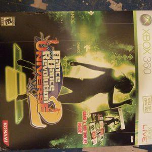 Xbox 360 Dance Dance Revolution Universe 2 Dance Mat And Game for Sale in Phoenix, AZ
