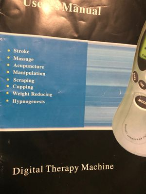 Digital therapy machine new tensing unit relieve your muscles for Sale in Sterling, KS
