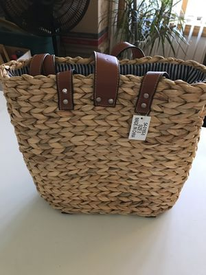 Heavy duty Straw Weaved Back Pack Tote Bag for Sale in WILKINSONVILE, MA