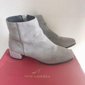 Rene Caovilla Swarovski/crystal Heel Suede Ankle Noots for Sale in HUNTINGTN BCH, CA