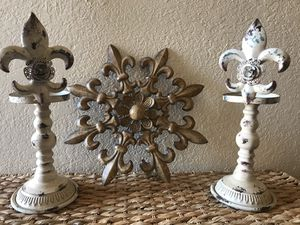 Candle holders and metal wall art for Sale in Pflugerville, TX