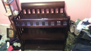Wooden changing table for Sale in Severn, MD