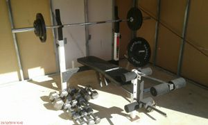 Bench press with weights included for Sale in Aston, PA