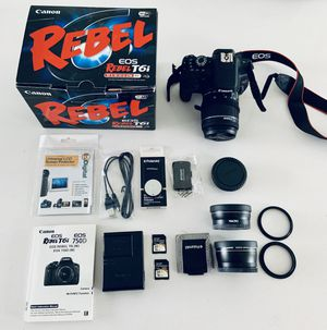 Canon EOD Rebel T6i Digital Camera for Sale in Los Angeles, CA