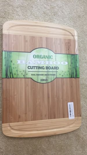 NEW Eco-Friendly Organic Bamboo Cutting Board for Sale in Springfield, VA