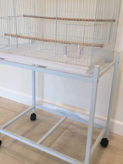 Rectangular Bird Cage With Stand On Wheels BRAND NEW for Sale in Los Angeles,  CA