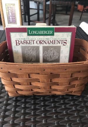 Longaberger Basket and Christmas collector ornaments for Sale in Dublin, OH