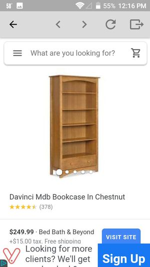 4 shelf wooden bookcase for Sale in Virginia Beach, VA