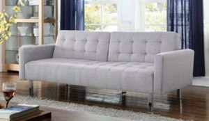Gray Adjustable Sofa/Futon/Couch for Sale in Fort Lauderdale, FL