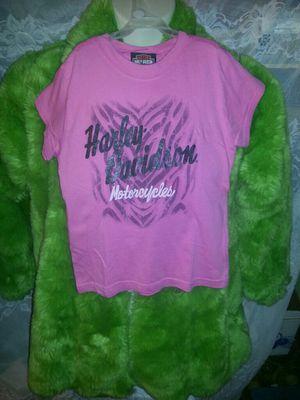 Girls pink size 7 harley davidson motorcycle shirt for Sale in Bethel Park, PA